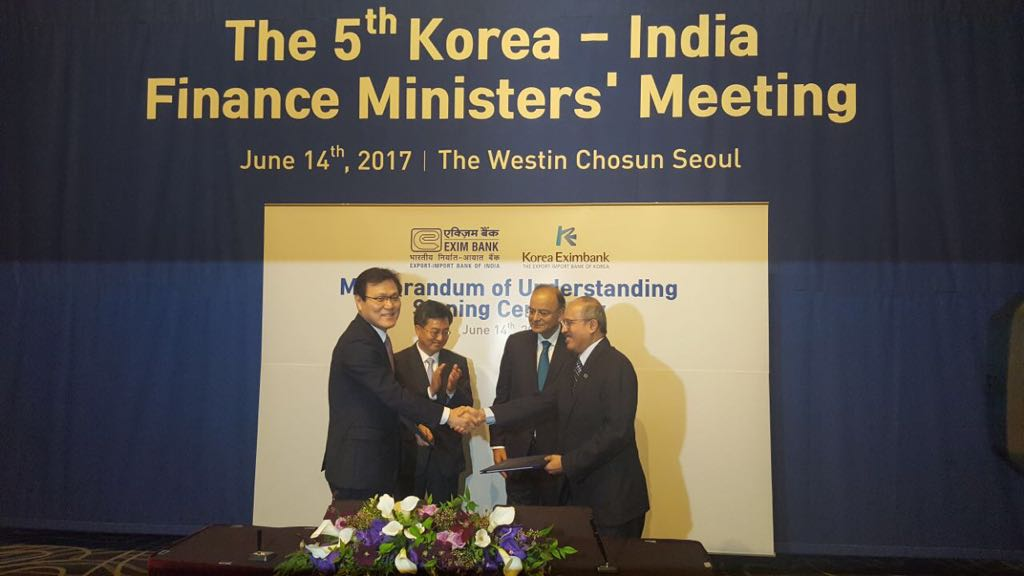 Export-Import Bank of India and The Export-Import Bank of Korea sign MoU
