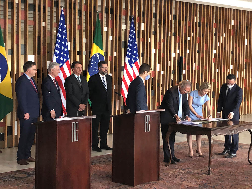 EXIM Signs $1 Billion Memorandum of Understanding with Brazil Ministry of Economy in Ceremony with President Bolsonaro of Brazil and U.S. National Security Advisor Robert O'Brien