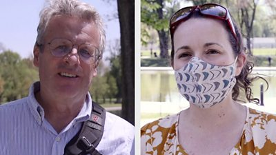 Americans still conflicted over outdoor masks