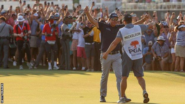 US PGA Championship: Phil Mickelson becomes oldest major winner with sixth title