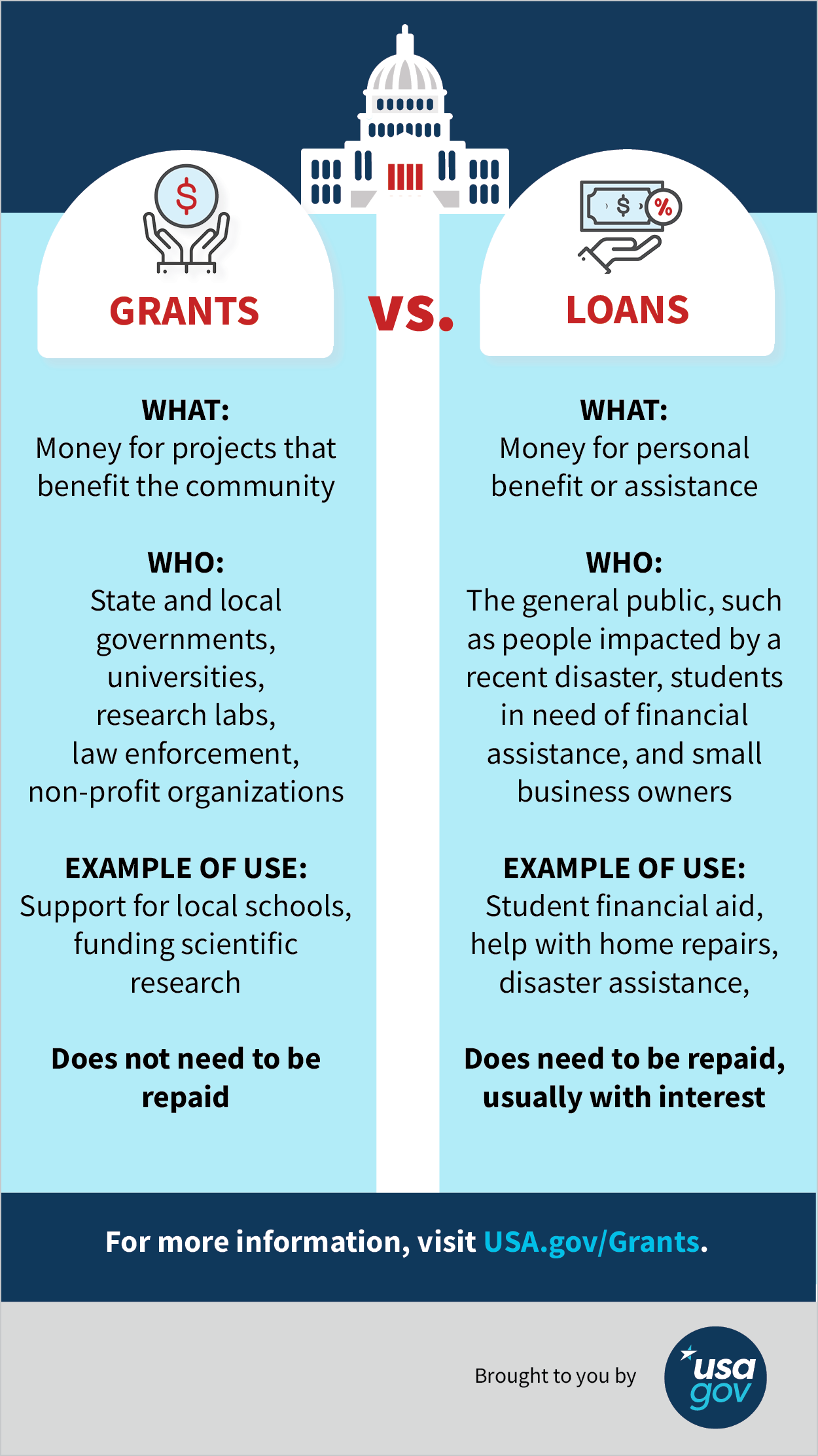 What's the Difference Between Government Grants and Loans?