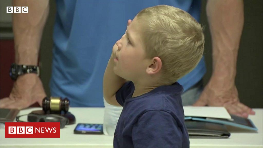 Five-year-old becomes 'sheriff' after beating cancer