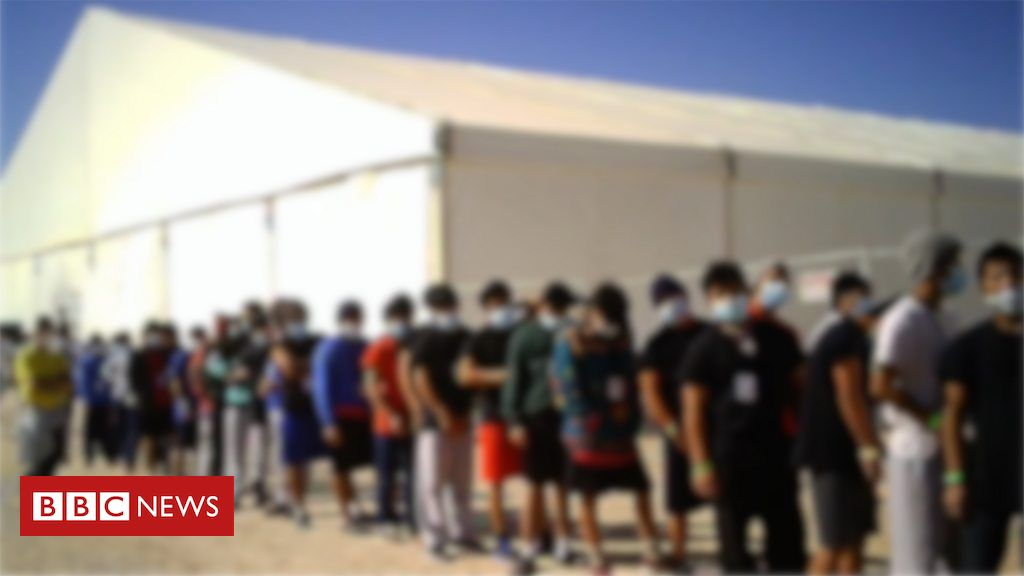 US migrant camp 'kids feel like they're in prison'