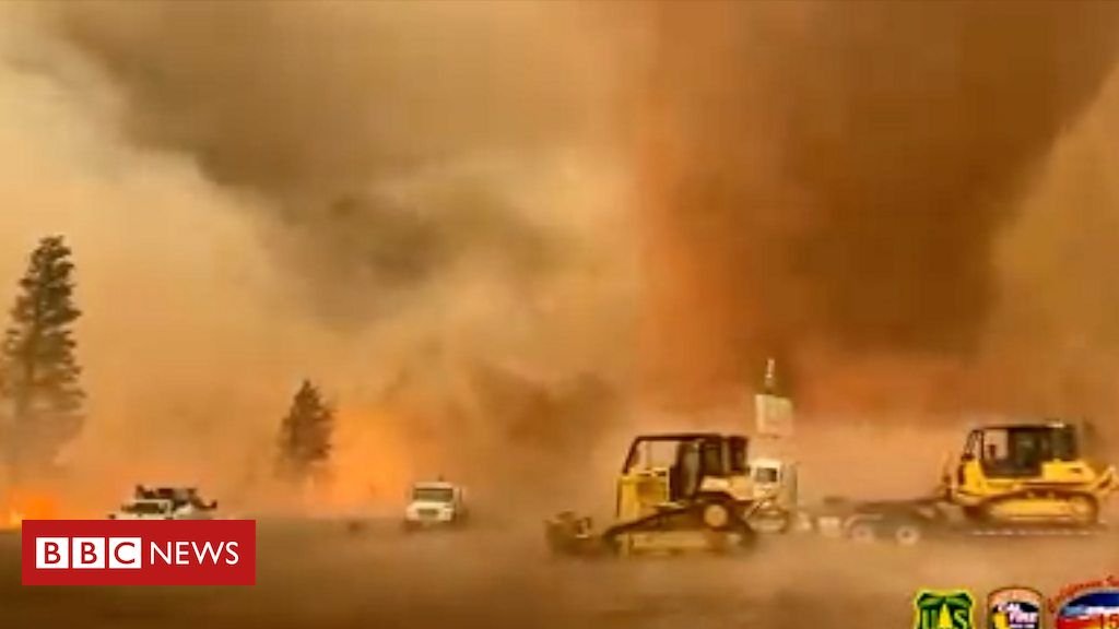 Powerful fire tornado in California is latest extreme weather sign
